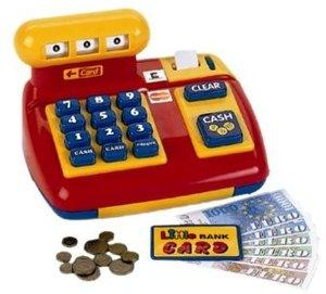 Theo Klein 9300 - Mechanische Registrierkasse, Kasse für Kauflad