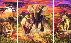 Schipper Malen nach Zahlen - Afrika Die Grossen Fünf (Triptychon