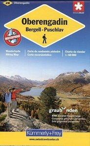 KuF Schweiz Wanderkarte 28 Oberengadin 1 : 60 000