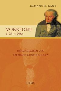 Vorreden (1781-1798)