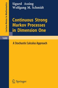 Continuous Strong Markov Processes in Dimension One