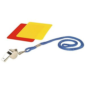 Hudora 76110 - Schiedsrichterset, Pfeife rote/gelbe Karte, 3-tei