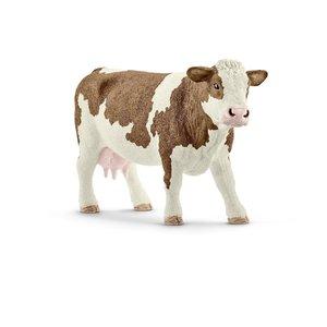 Schleich 13801 - Fleckvieh Kuh, mehrfarbig