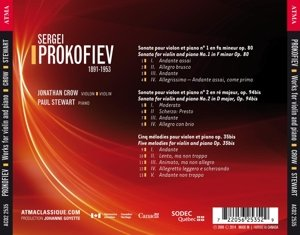 Sonatas for violin and piano 1 & 2