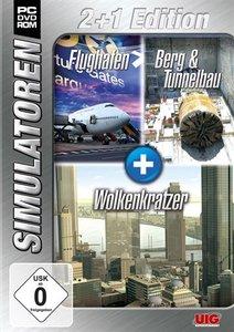 Simulator Bundel: Flughafen, Berg- und Tunnelbau, Wolkenkratzer