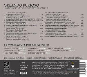Orlando Furioso-Madrigale Auf Texte Aus