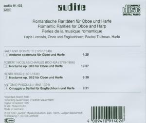 Romantische Raritäten Für Oboe Und Harfe