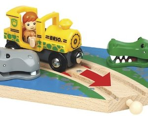 Brio 33721 - Safari Wasserstelle, Aktionsschiene