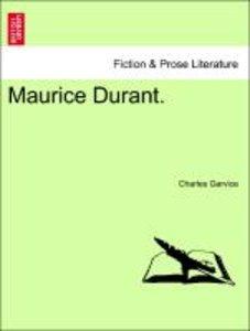 Maurice Durant. Vol. III.