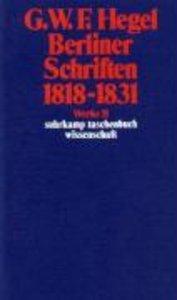 Berliner Schriften 1818 - 1831