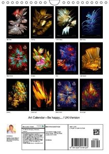 Art Calendar - Be happy... / UK-Version (Wall Calendar 2015 DIN