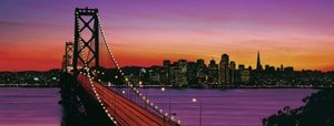 San Francisco, Oakland Bay Bridge bei Nacht. Puzzle 1000 Teile