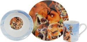 United Labels - Frühstücks-Set, 3-teilig, Teller, Müslischale, T