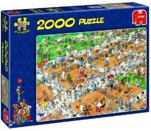 Jumbo Spiele 17075 - Der Tennisplatz, 2000 Teile Puzzle