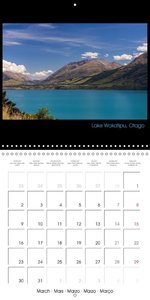 New Zealand A bike adventure (Wall Calendar 2015 300 × 300 mm Sq