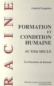 Formation et condition humaine au XXIe siècle
