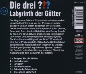 Die drei ??? 091. Labyrinth der Götter. (drei Fragezeichen). CD