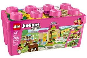 LEGO Juniors 10674 - Große Steinebox: Mädchen Ponyhof
