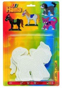Hama 4556 - Blister mit 3 Stiftplatten: Hund, Katze, Pferd
