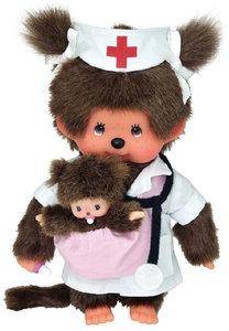 Monchhichi Krankenschwester, ca. 20 cm