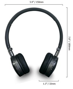 LASMEX Over-Ear-Kopfhörer H-16B, Bluetooth® Headset,