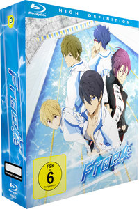 Free! - Box 1 (Blu-ray) + Sammelschuber [Limited Edition]