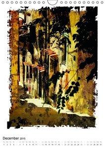 Italian alleys / UK-Version (Wall Calendar 2015 DIN A4 Portrait)