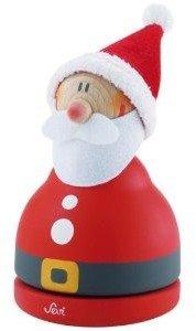 Sevi 82477 - Glockenspielball Weihnachtsmann, Spieluhr aus Holz