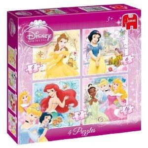Princess 4in1 Puzzle - 4/6/9/16 Teile