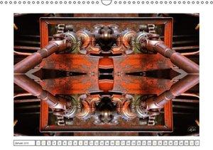 Faszination Spiegelung - Industrie und Technik (Wandkalender 201
