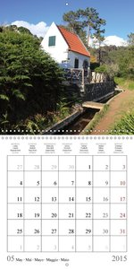 MADEIRA roads and trails (Wall Calendar 2015 300 × 300 mm Square