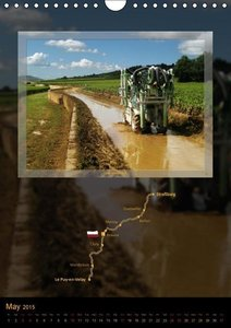 Camino france / UK-Version (Wall Calendar 2015 DIN A4 Portrait)