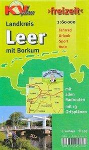 Freizeit Landkreis Leer mit Borkum 1 : 60 000