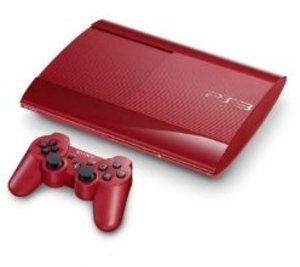 Sony PS3 Konsole 500GB -rot- + 2. Dual Shock Wireless Controller