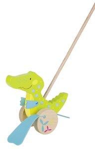 Goki 54911 - Schiebetier Krokodil, Susibelle