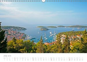 Adriatic Coast Croatia / UK-Version (Wall Calendar 2015 DIN A3 L