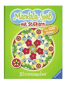 Mandala-Spaß mit Stickern: Blütenzauber