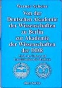 Von der Deutschen Akademie der Wissenschaften zu Berlin zur Akad