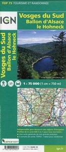 IGN 75 000 Touristische Wanderkarte Vosges du Sud Ballon d'A