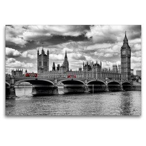 Premium Textil-Leinwand 120 cm x 80 cm quer LONDON Westminster B