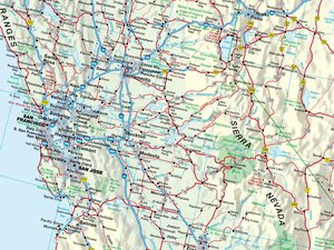 USA West 1 : 2 200 000. Straßenkarte