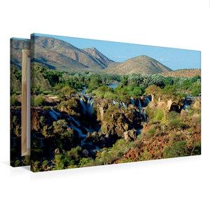 Premium Textil-Leinwand 75 cm x 50 cm quer Epupa Falls