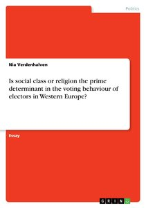 Is social class or religion the prime determinant in the voting
