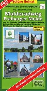 Mulderadweg (Freiberger Mulde) Radwander- und Wanderkarte 1 : 50