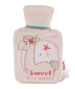 Nici 42254 - Lama Dalia Lama, Wärmflasche, mit Fleece-Hülle