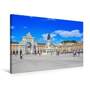 Premium Textil-Leinwand 75 cm x 50 cm quer Praca do Comercio