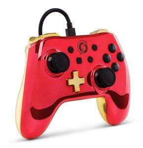 PowerA Wired Controller, Chrome Red Samus, für Nintendo Switch