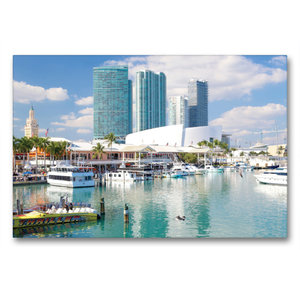 Premium Textil-Leinwand 90 cm x 60 cm quer Miami