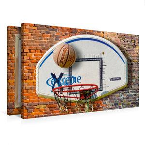 Premium Textil-Leinwand 75 cm x 50 cm quer Basketball - so cool