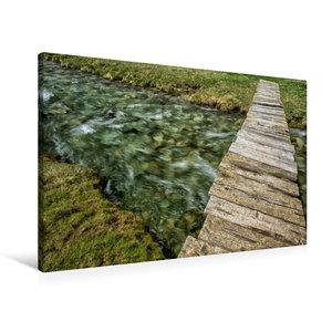 Premium Textil-Leinwand 90 cm x 60 cm quer Naturbrücke